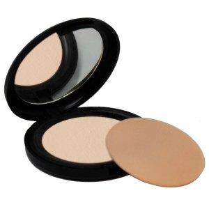cipria compatta beige chiara con specchio e spugnetta