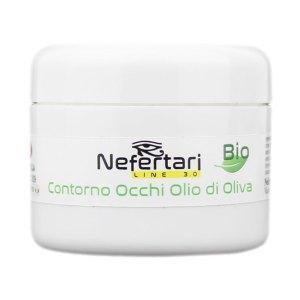 Contorno occhi bio all'olio d'oliva nutriente NefertariLine barattolo