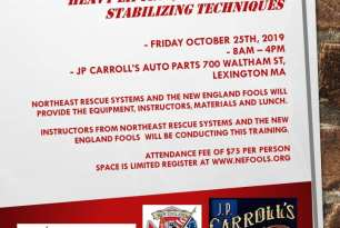 Event: METRO BOSTON AUTO EXTRICATION 2019 —  A ONE DAY HANDS-ON EVENT CONTAINING THE MOST CURRENT HEAVY LIFTING, SHIFTING, AND STABILIZING TECHNIQUES