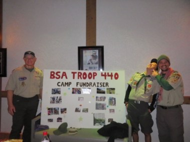 Troop 440 event poster board