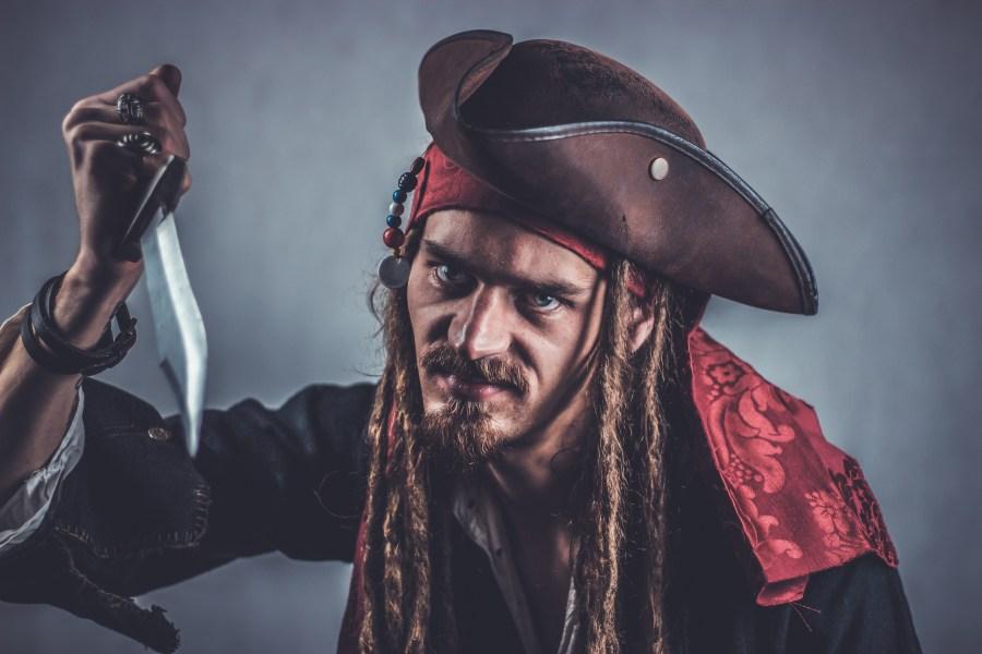 Pirate Costume Man Knife Beard