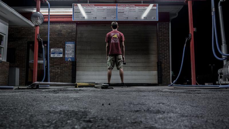 Man Alone Car Wash