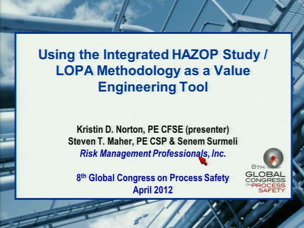 Hazard And Operability Study Example