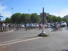 Mass bike ride