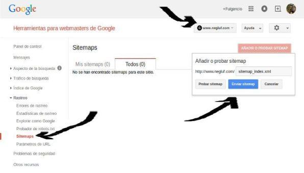 Añadir un sitemap con Webmaster Tools para que Google encuentre nuestro blog.