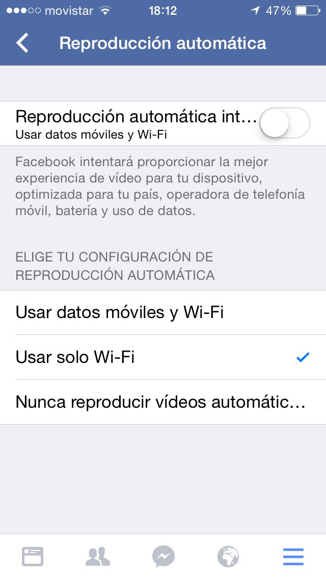 Como ahorrar tarifa de datos móvil en Iphone.