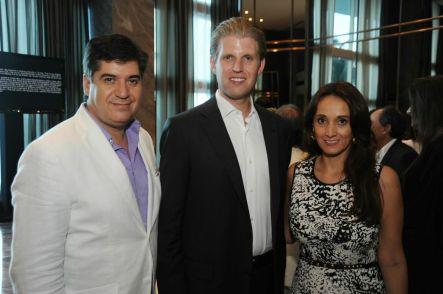 Eduardo Hapke, Eric Trump y Karen Blanco