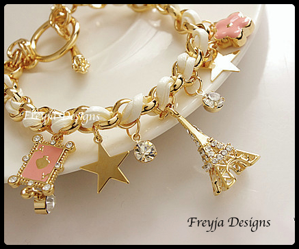 Fashion Bracelets Style: Trendy Material: Leather Rhinestone Chain Type: Link Chain Length: 23cm Metals Type: Zinc Alloy