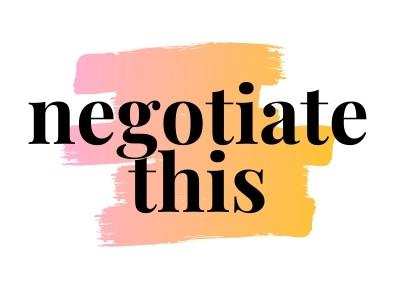 Negotiate This Logo