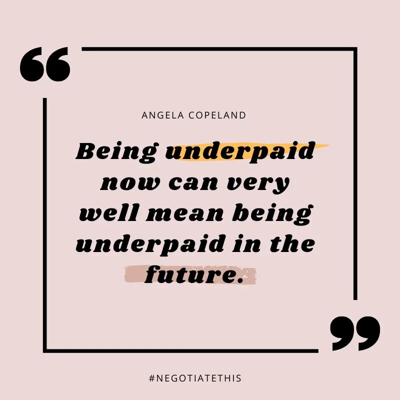 Being underpaid now can very well mean being underpaid in the future