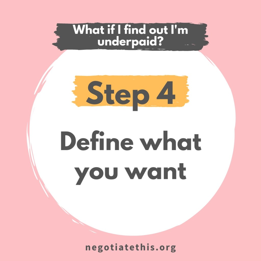 step 4: define what you want
