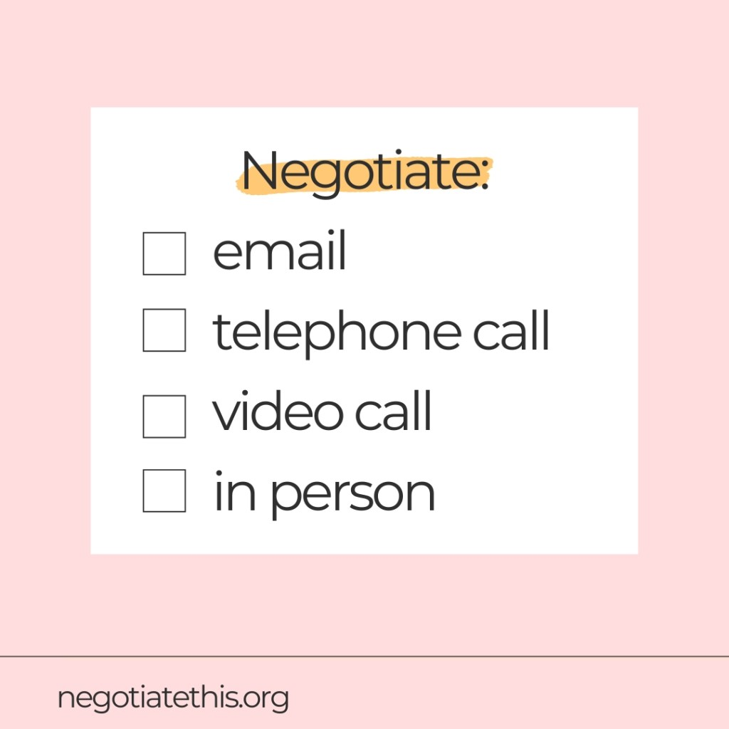 methods for negotiating best and worst