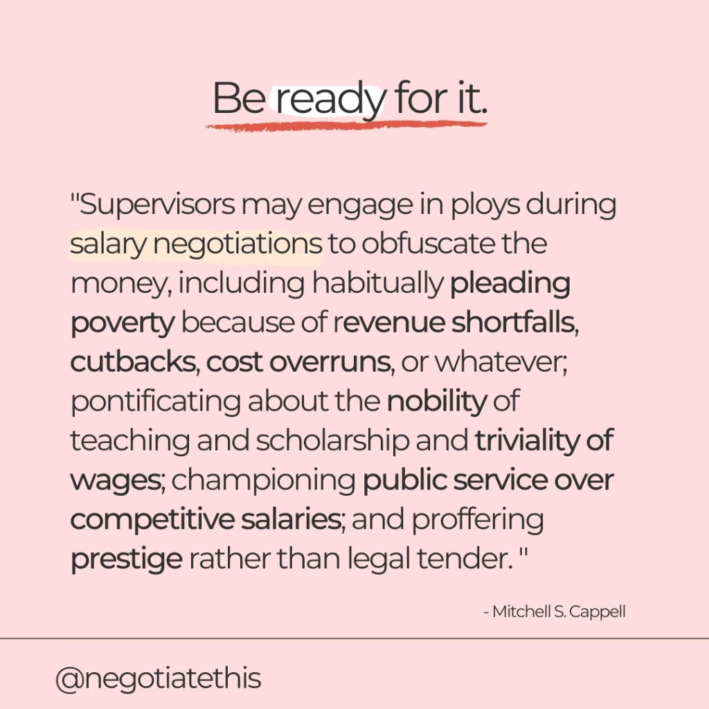 be ready for it if boss says there aren't any funds left