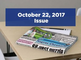 The Negros Chronicle Newspaper October 22, 2017 Issue