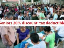 Seniors 20% discount: tax deductible