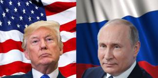 Donald John Trump is the current President of the United States of America and Vladimir Vladimirovich Putin is the current President of Russia.