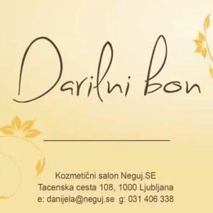 Darilni bon kozmetičnega salona Neguj.se