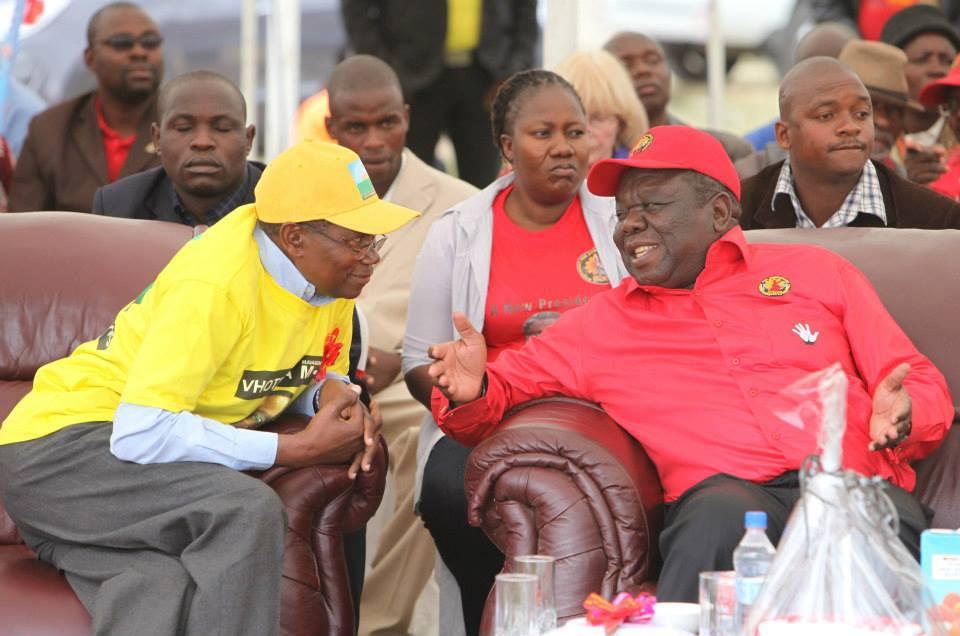 Simba Makoni and Morgan Tsvangirai