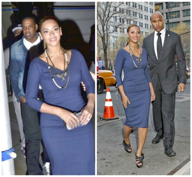 Beyonce with bodyguard Julius De Boer