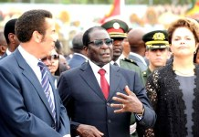 President Robert Mugabe seen here with Botswana President Ian Khama