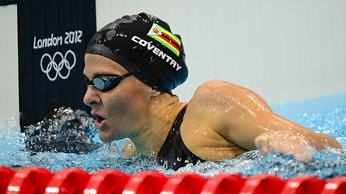 Zimbabwe's swimming legend Kirsty Coventry