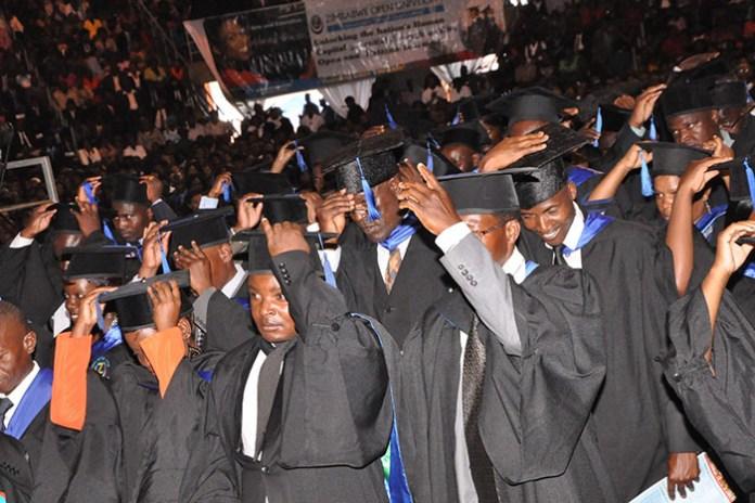 File picture of Zimbabwe Open University graduates