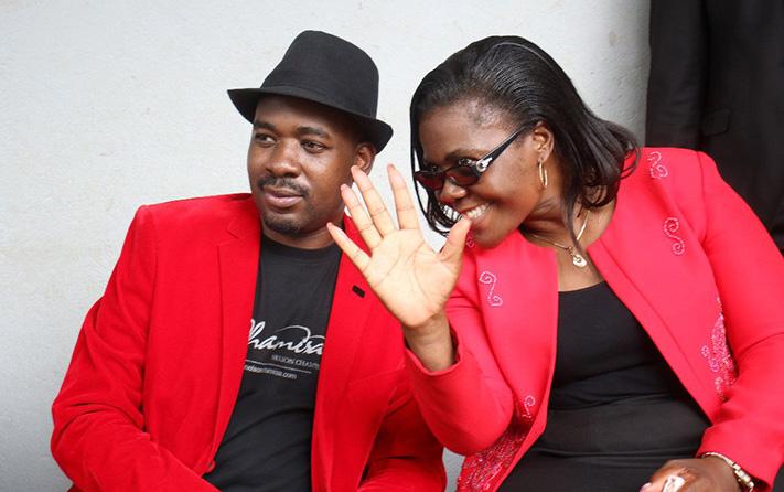 MDC Alliance president Nelson Chamisa and Vice President Lynette Karenyi