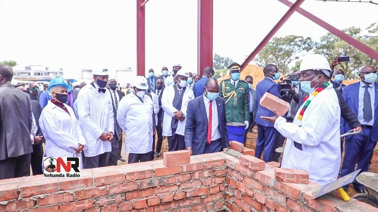 Mnangagwa Officiates Groundbreaking Ceremony Of Uebert Angel's Hippodrome Beethoven Hotel