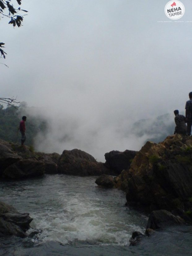A view of the river uphill, before the Jog Falls