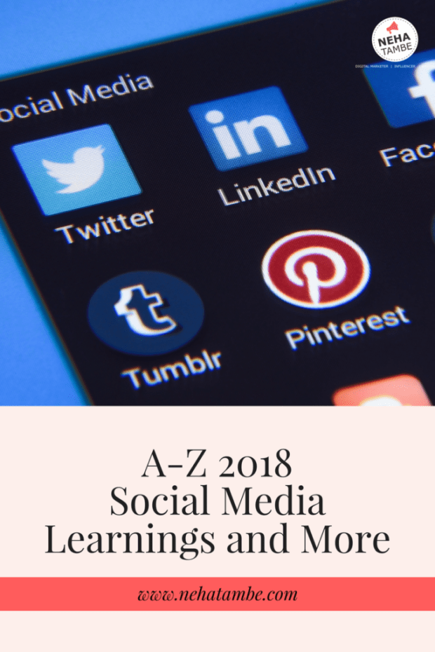 A-Z 2018 will be about teaching others social media marketing for small businesses