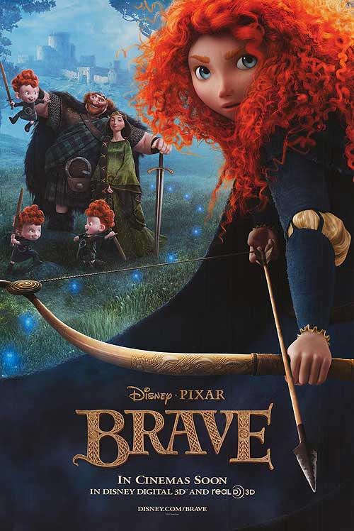 Brave, an animated movie by disney pixar.