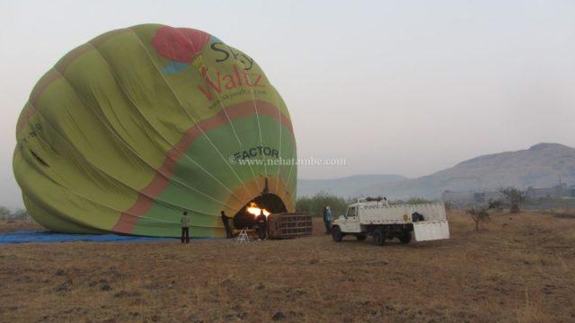A hot air balloon ride near Pune