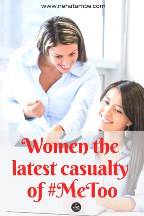 How can organizations overcome the me too phobia and help women grow