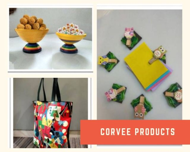 Products made at Corvee Foundation