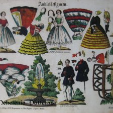Ankleidefiguren 1862 / fashion dolls 1862