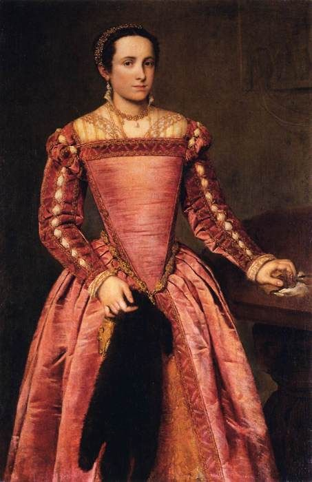 Lady in a red dress (c. 1560) Giovanni Battista Moroni