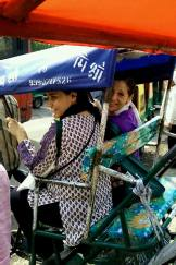 Riding in rickshaws on the way to the guided walk given by Sabir