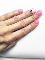 Gelové nehty růžové s mašličkou