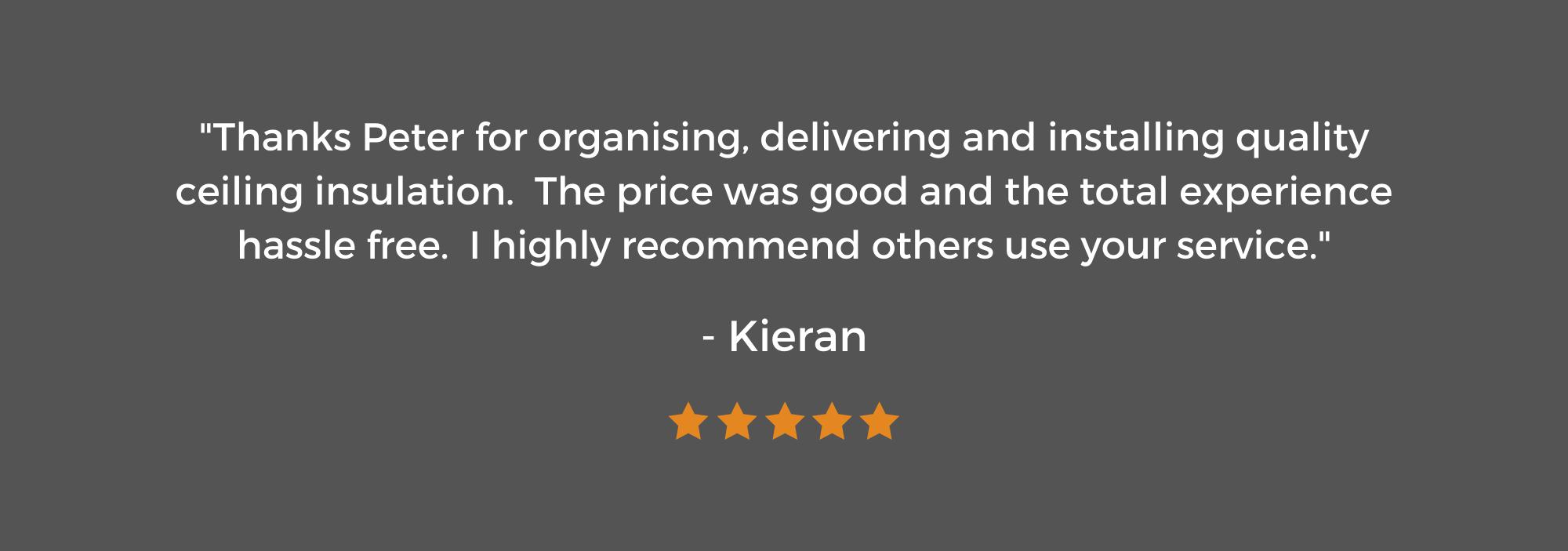5 Star Review from Kieran