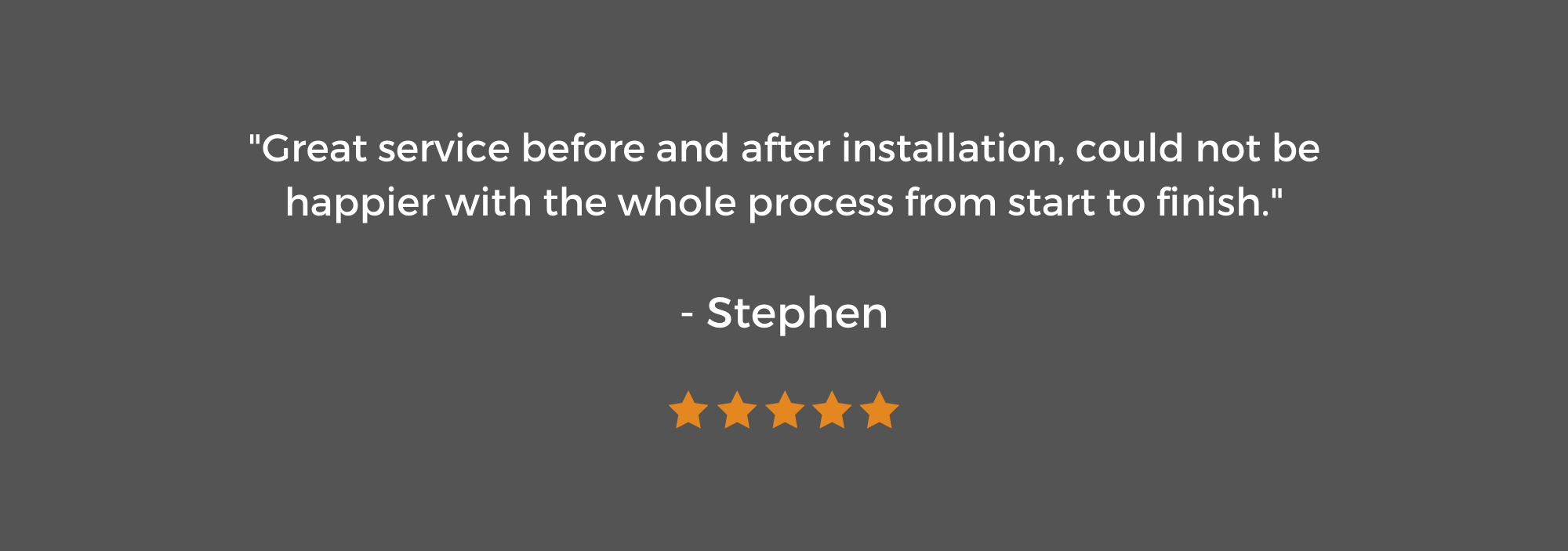 5 Star Review from Stephen