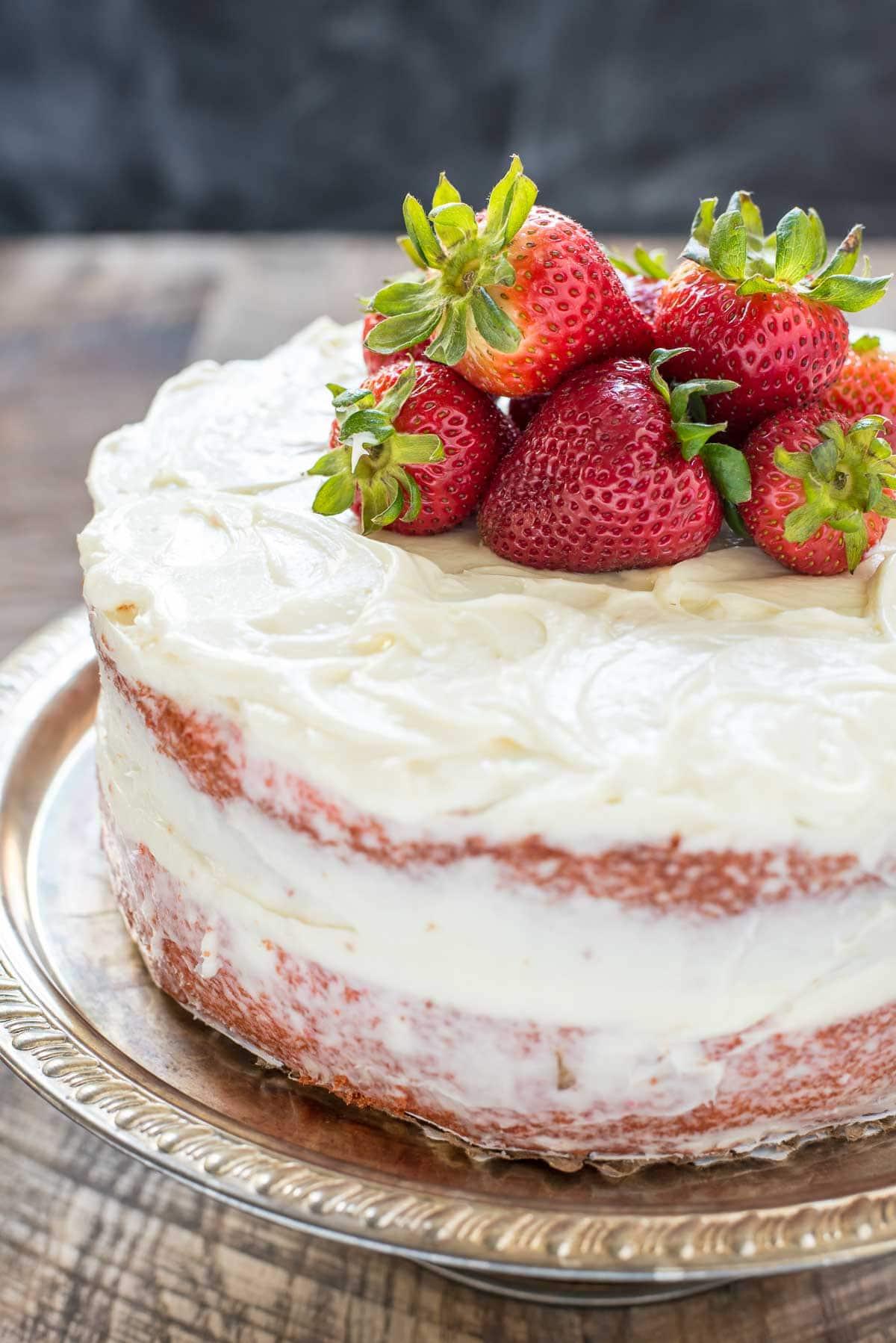 Easy Cake Recipes Strawberry