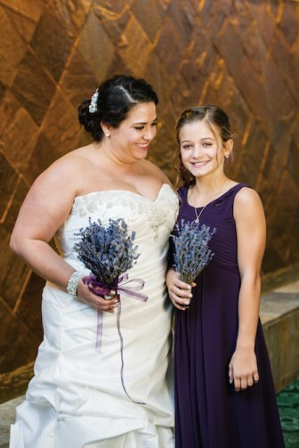 Nicole and her maid of honor — her sister, Bella
