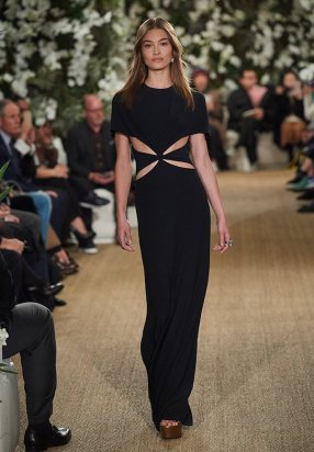 Ralph Lauren 2017 Black Silk Cady Dress