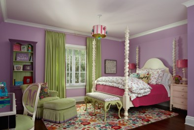 This room for an older child designates a spot for homework. Photos courtesy of House of Bedroom Kids.