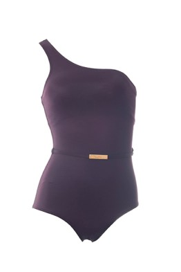 Forever Sexy Belted Asymmetric one-piece, $78, both at Victoria's Secret.