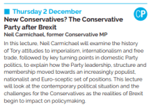 Newcastle University Online Lecture: New Conservatives? The Conservative Party after Brexit