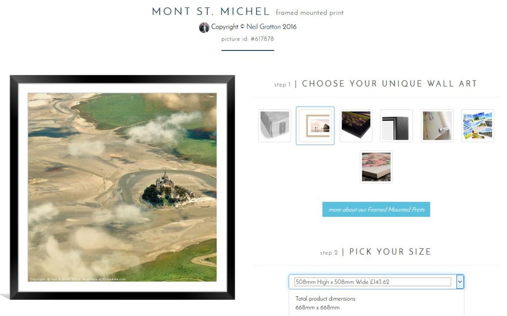 Preview shopfront of Mont St Michel