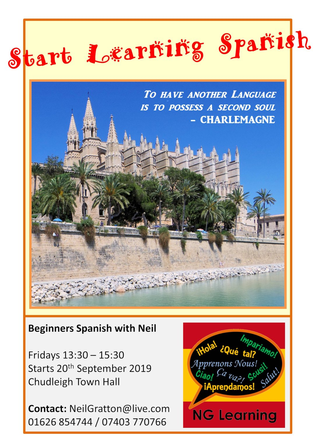 Poster Friday Afternoon Spanish Chudleigh