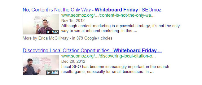 rich snippets by Google