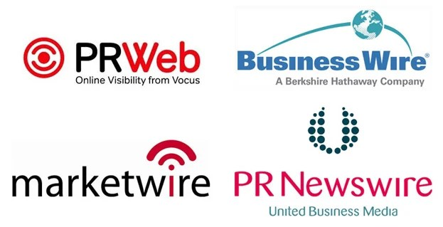 logos of quality press release outlets